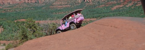 An off-road tour of Broken Arrow Trail near Sedona, Arizona, has its ups and downs.