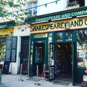 Sylvia Beach opened Shakespeare and Company in the early 20th century. This recreation remains a busy place for lovers of literature.