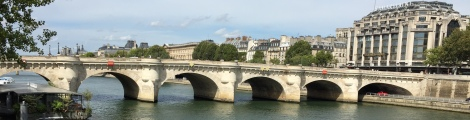 Pont neuf means new bridge but Paris's oldest bridge connects the Ile de La Cite to the city's left and right banks.