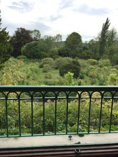 The view of Monet's gardens from a bedroom window.
