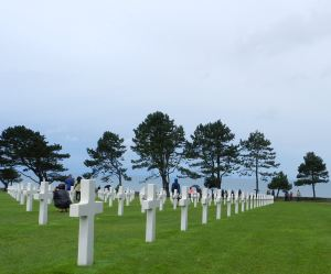 More than 9,000 Americans are buried at Saint-Laurent cemetery near Omaha Beach.