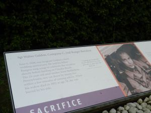On the path to Pointe du Hoc, Rangers who died in the attack are remembered.