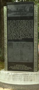 A monument at Phillips Landing on Broad Creek memorializes Capt. John Smith's exploration of the Nanticoke River. He stopped just around the river bend.