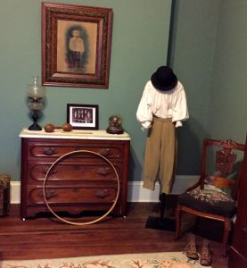 James Ross, the last child to live in the mansion, is remembered with a display of his boyhood clothes and toys.