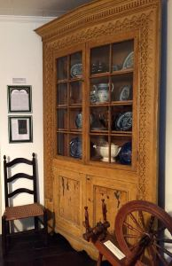 The turkey breast corner cabinet is a rare find. You'll find it in