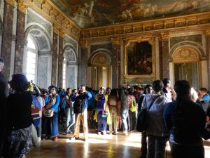 Lots of people filled every room at Versailles. Tuesdays are always busy here.