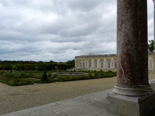 The view from the arcade at the Grand Trianon, home to both Louis XIV and Napoleon.
