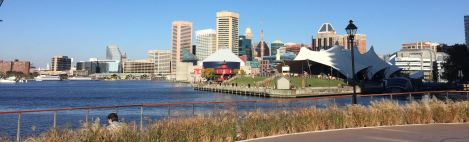 What a walk! Everywhere a view along Baltimore's Waterfront Promenade.