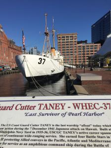 The Coast Guard Cutter Taney, which witnessed the attack on Pearl Harbor, is one of the historic ships you'll see as you walk. They're open for visits, too.