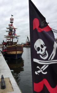 The only pirates you'll find in Fells Point are the crazy Urban Pirates whose boat ride attracts families during the day and adults at night.