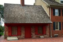 The Dutch House is one of New Castle's oldest buildings, built around 1700.
