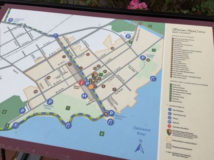 A couple of maps in town help visitors get around.
