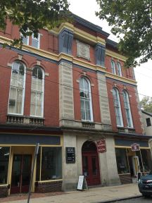 Inside the old opera house are a couple of businesses, including Oak Knoll Books.