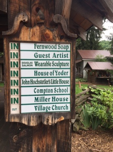 Artisans at Spruce Forest Artisan Village keep their own hours. The board at the entrance lets you know who's here today.