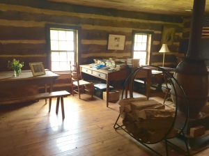 The one room school house is open to visitors.