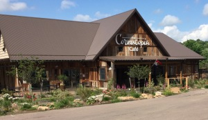 You can walk to the Cornucopia Cafe from Spruce Forest.