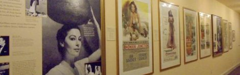 Movie posters recall Ava Gardner's varied roles in the Ava Gardner Museum in Smithfield, N.C.