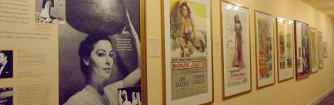 Movie posters recall Ava Gardner's varied roles in the Ava Gardner Museum in Smithfield, N.C.