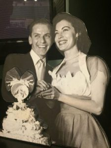 A photo of the newlyweds, Frank Sinatra and Ava Gardner.