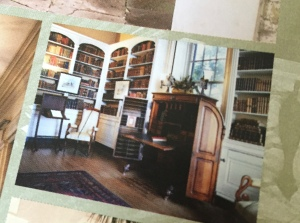 From the house's brochure, a view of the second story library. It was my favorite room in the house.
