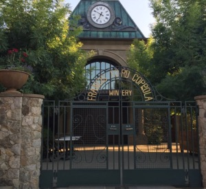 A grand entrance at Francis Ford Coppola's Sonoma winery.