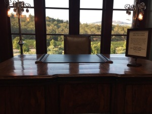 One of the most famous desks in the world, I would think: the Godfather's.