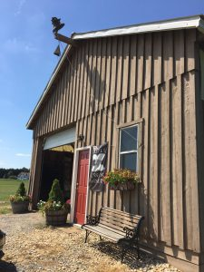 The tasting room is just off Cordova Road, set among rows and rows of grapevines.