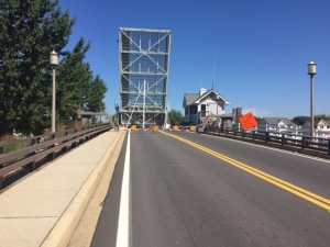 A drawbridge over Knapps Narrows connects Tilghman to the rest of Talbot County.